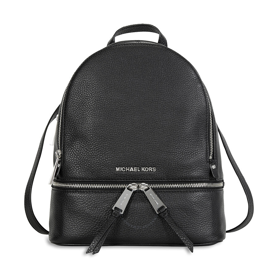 26313fca3bc612 Michael Kors Rhea Leather Backpack - Black - Michael Kors Handbags ...