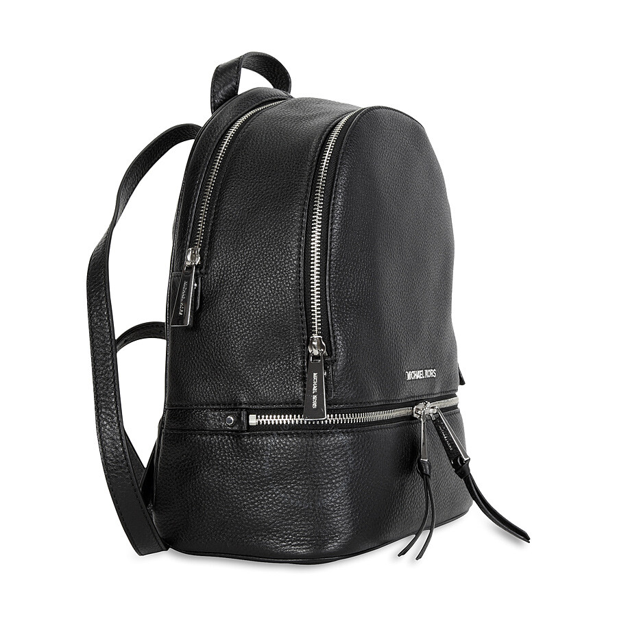 a54eb955ceaf Michael Kors Rhea Leather Backpack - Black - Michael Kors Handbags ...