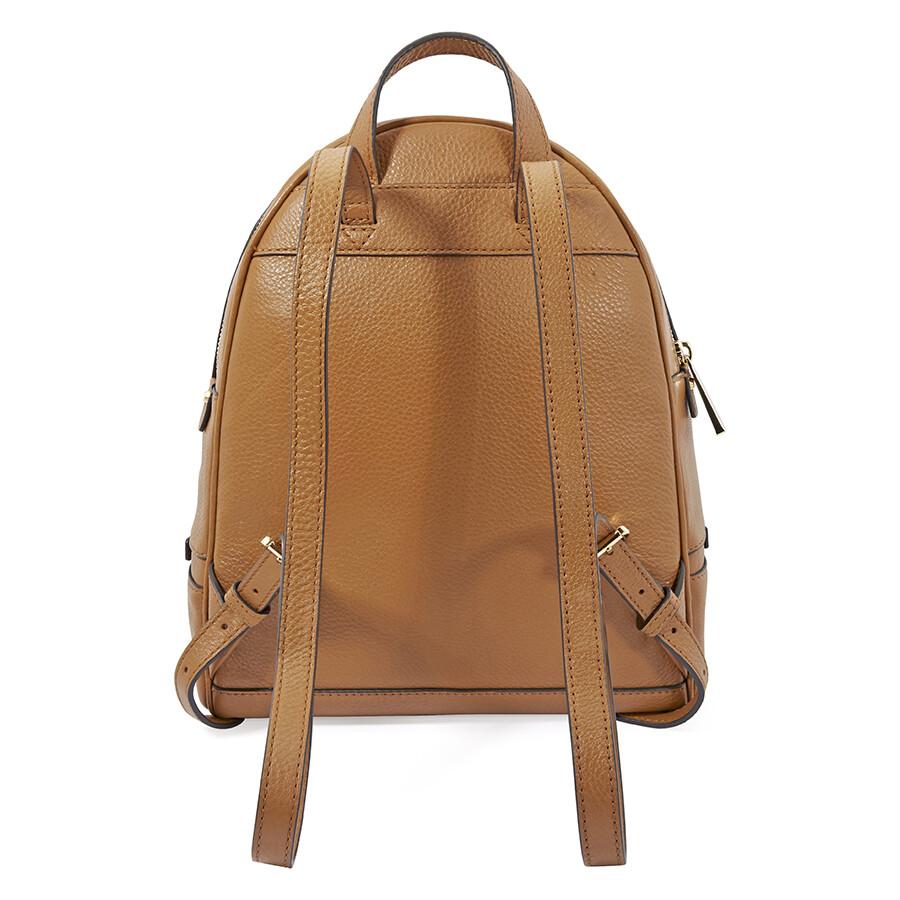 228e4771452f Michael Kors Rhea Medium Leather Backpack - Acorn - Rhea - Michael ...