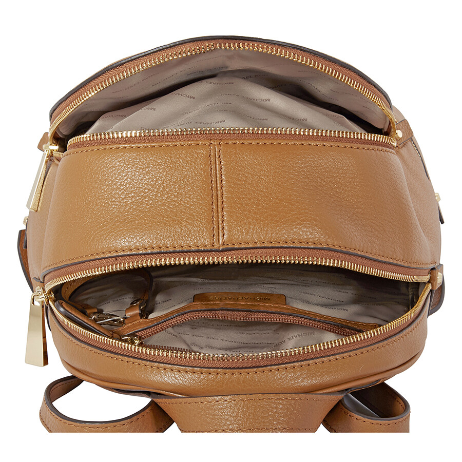 0fcb2e4baaf79 Michael Kors Rhea Medium Leather Backpack - Acorn - Rhea - Michael ...