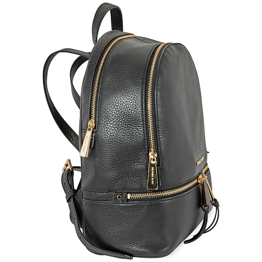 c6be22fd78bf Michael Kors Rhea Medium Leather Backpack - Black - Rhea - Michael ...