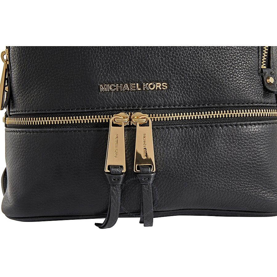 f92a0ed8e Michael Kors Rhea Medium Leather Backpack - Black - Rhea - Michael ...