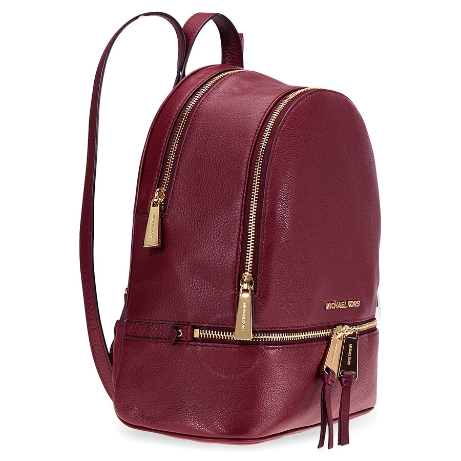 91afa4048687 Michael Kors Rhea Medium Leather Backpack - Oxblood - Rhea - Michael ...