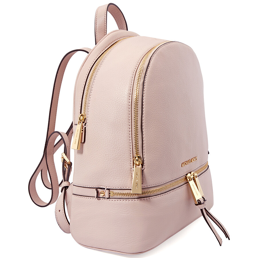 6d9f2d6399 Michael Kors Rhea Medium Leather Backpack - Soft Pink - Rhea ...