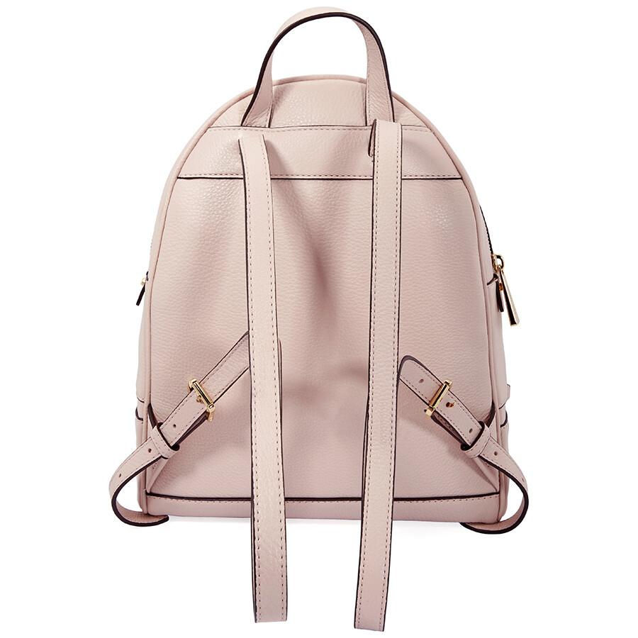 6d9f2d6399 Michael Kors Rhea Medium Leather Backpack - Soft Pink - Rhea ...