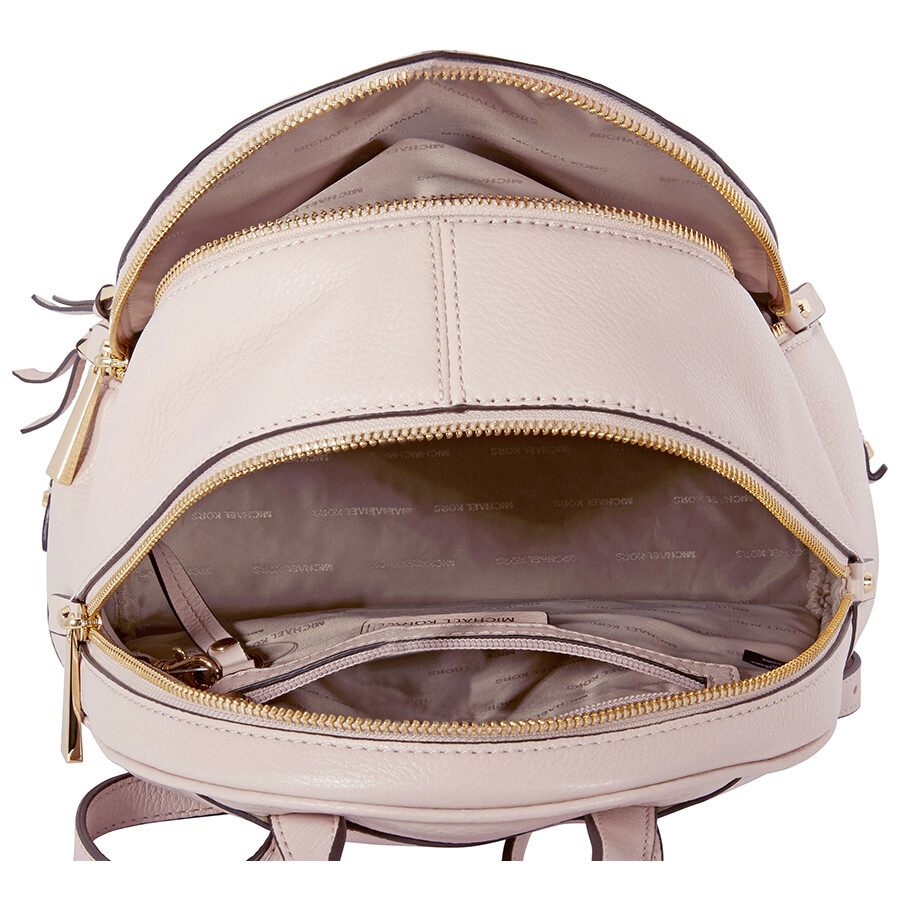 a5d15162a40a ... promo code michael kors rhea medium leather backpack soft pink 4f7b2  5aef6