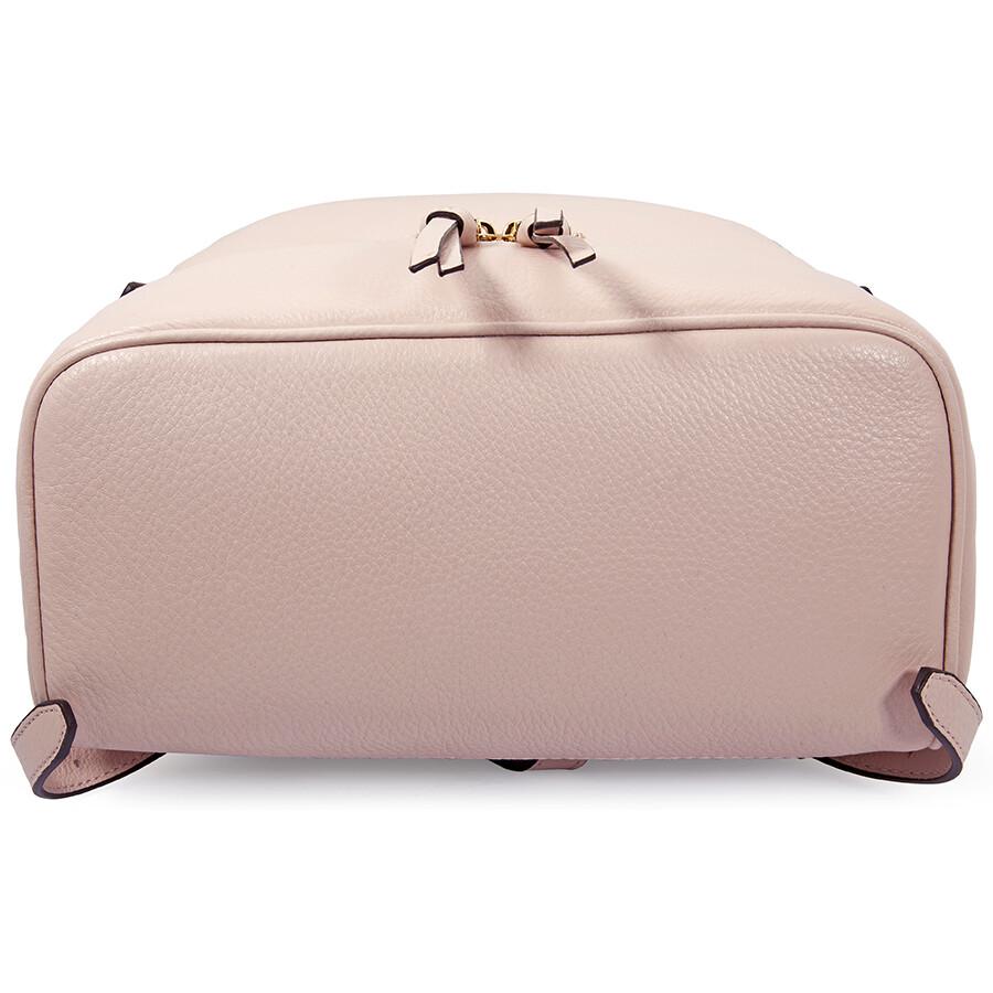 ... promo code michael kors rhea medium leather backpack soft pink 36454  ec714 0369f2b3cfd2d