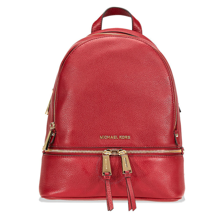 1b157bd39af2f Michael Kors Rhea Medium Leather Backpack- Maroon Item No. 30S5GEZB1L-550