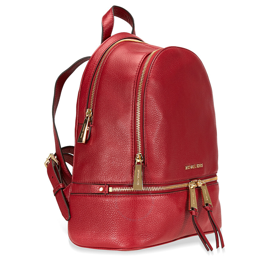 1b1be0aec7291a Michael Kors Rhea Medium Leather Backpack- Maroon - Rhea - Michael ...