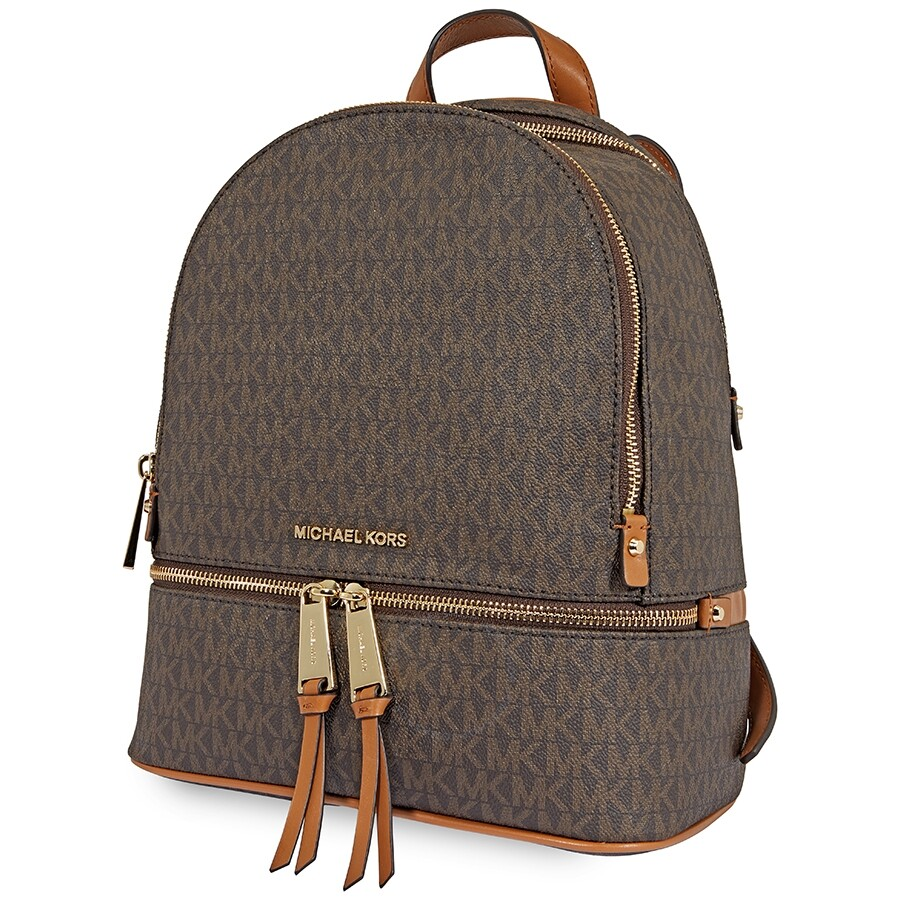 0b58a92715d8 Michael Kors Rhea Medium Logo Print Backpack - Brown Item No. 30S7GEZB1B-200