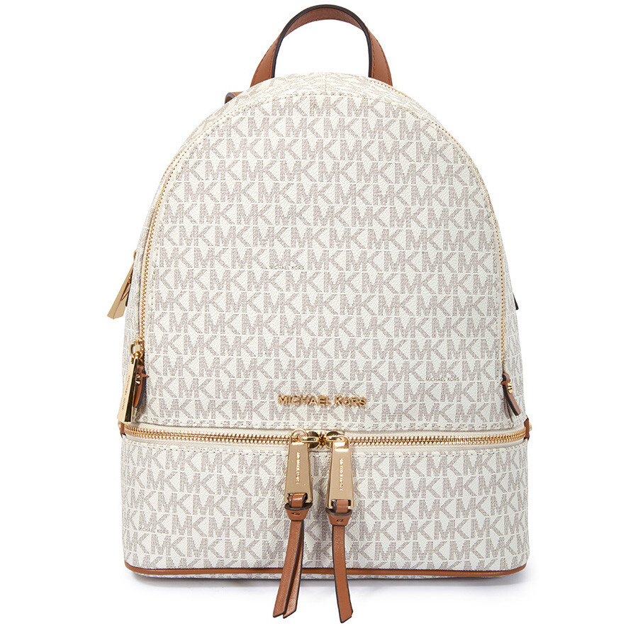 debe8f668699 Michael Kors Rhea Medium Logo Print Backpack - Vanilla Item No.  30S7GEZB1B-150