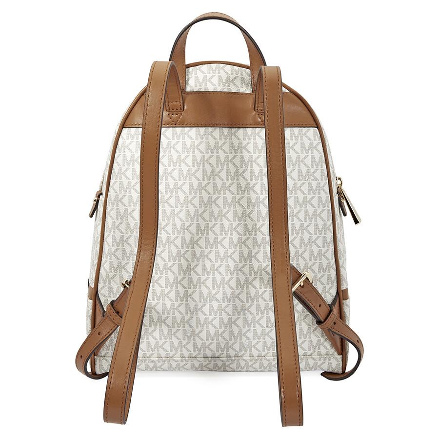 michael kors rhea medium logo print backpack vanilla rhea rh jomashop com