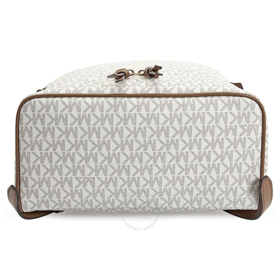 bc97d0fc609b Michael Kors Rhea Medium Logo Print Backpack - Vanilla - Rhea ...