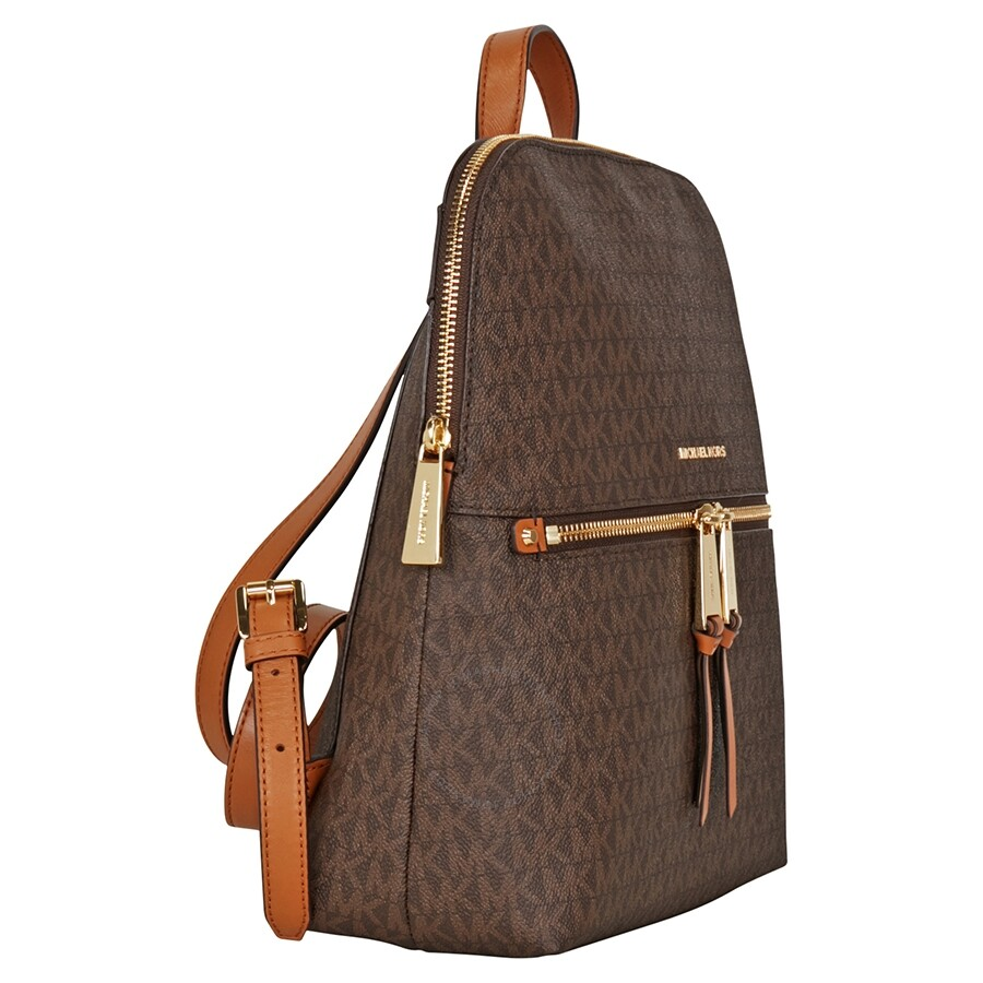 Michael Kors Rhea Medium Slim Backpack - Brown - Rhea - Michael Kors Handbags - Handbags - Jomashop