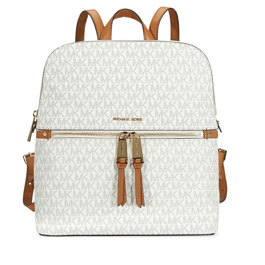88f34b9c9ea0 Michael Kors Rhea Medium Slim Backpack - Vanilla Item No. 30H6GEZB2V-150