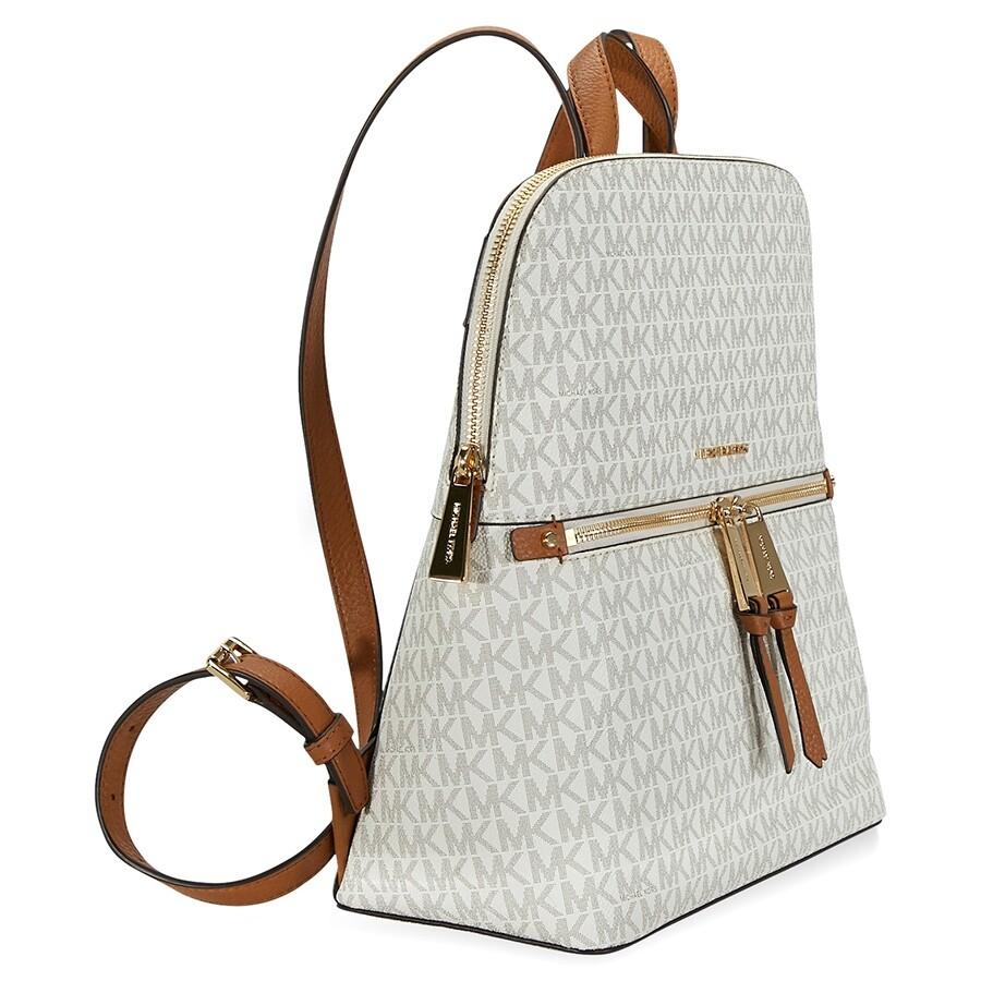 437b78874aa42d Michael Kors Rhea Medium Slim Backpack - Vanilla - Rhea - Michael ...