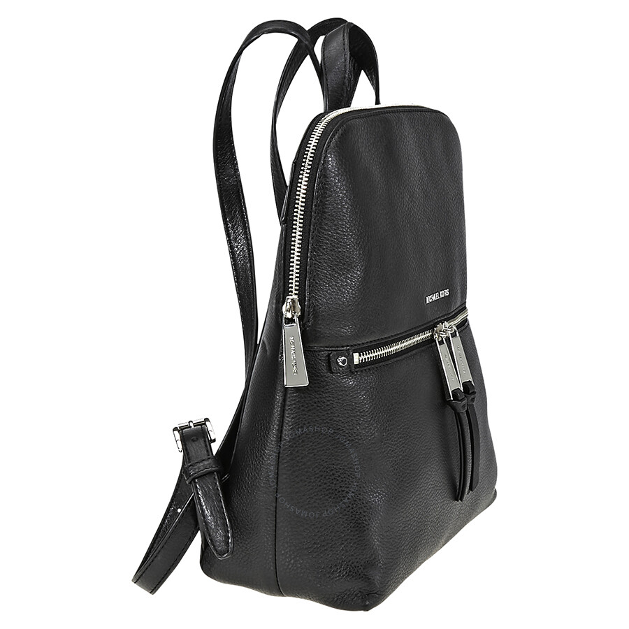 68a9ab24f0f5 Michael Kors Rhea Medium Slim Backpack- Black - Rhea - Michael Kors ...