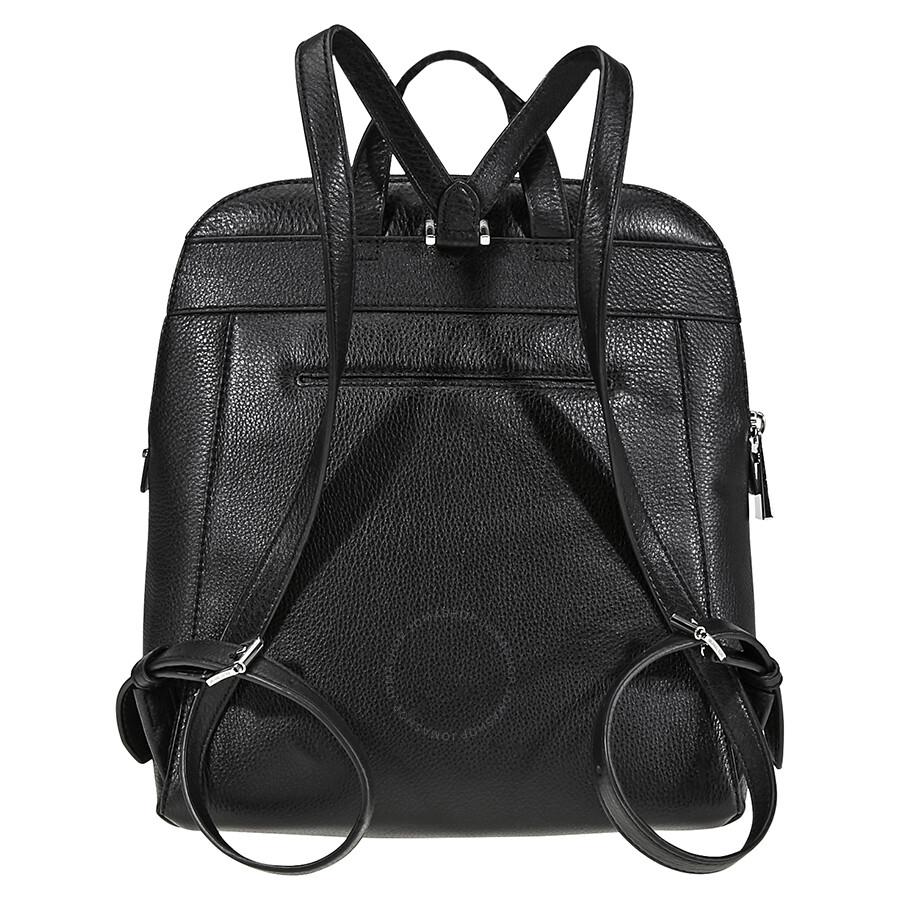 b9a21f1315e8 Michael Kors Rhea Medium Slim Backpack- Black - Rhea - Michael Kors ...