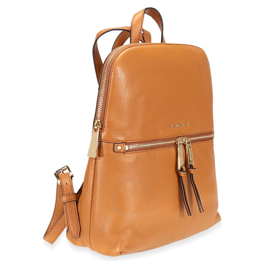 480d9568e06d Michael Kors Rhea Medium Slim Leather Backpack- Acorn - Rhea ...