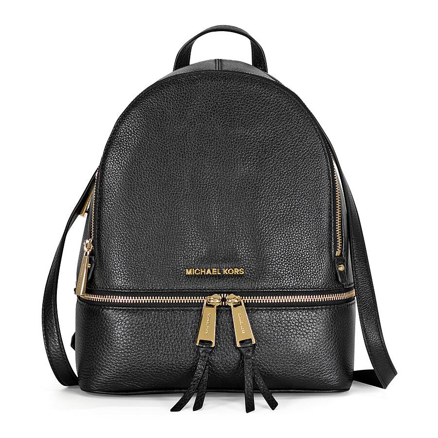 michael kors rhea medium leather backpack black rhea. Black Bedroom Furniture Sets. Home Design Ideas