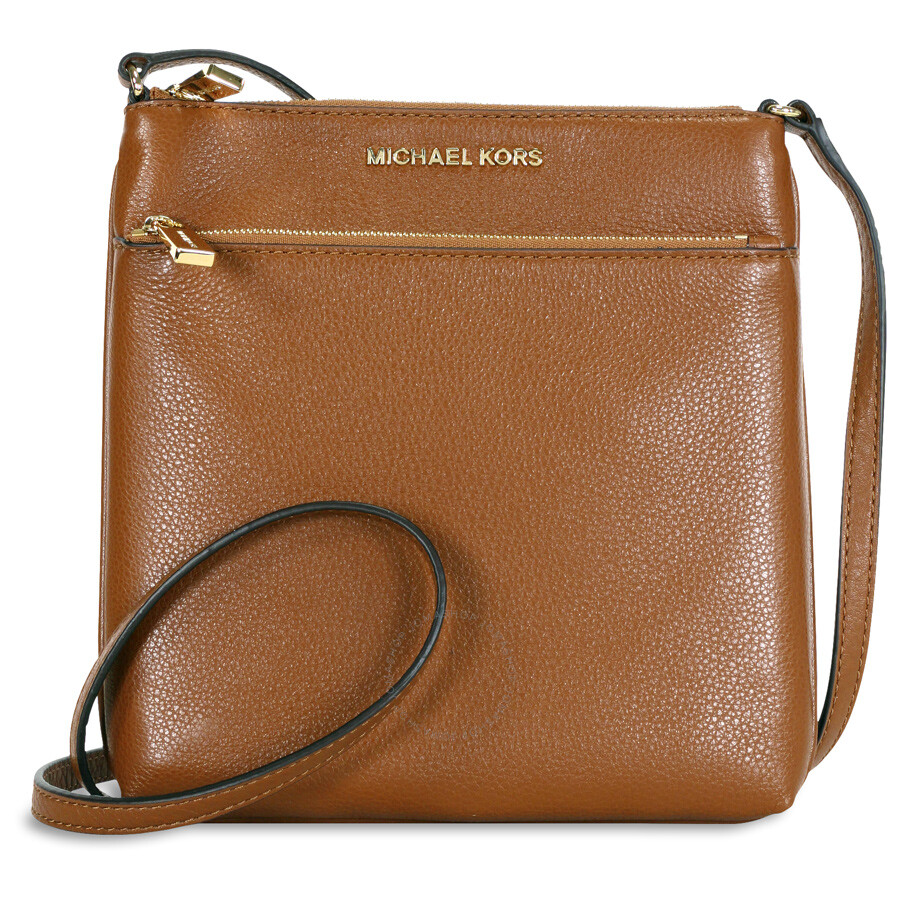 Michael Kors Riley Small Flat Leather Crossbody - Luggage Item No.  32S5GRLC1L-230 1b48d9a40be5f