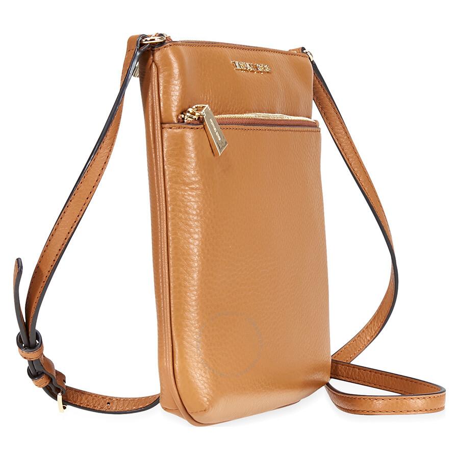 39f272321a0525 Michael Kors Riley Small Pebbled Leather Messenger Bag- Acron ...