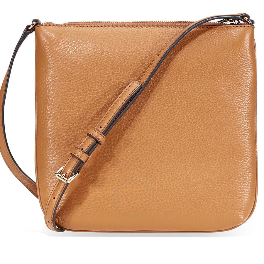 Michael Kors Riley Small Pebbled Leather Messenger Bag Acron
