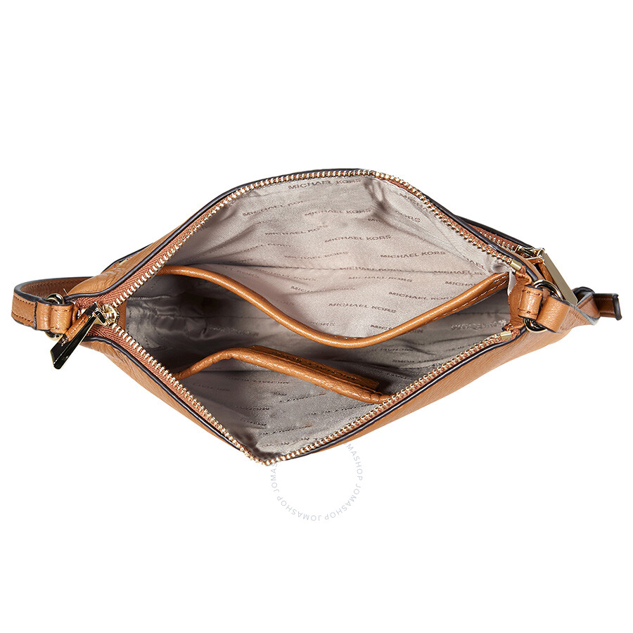8cdb18c9d4b7 Michael Kors Riley Small Pebbled Leather Messenger Bag- Acron ...