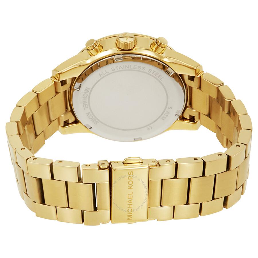aaf026aa9 Michael Kors Ritz Chronograph Gold Dial Ladies Watch MK6356 - Ritz ...