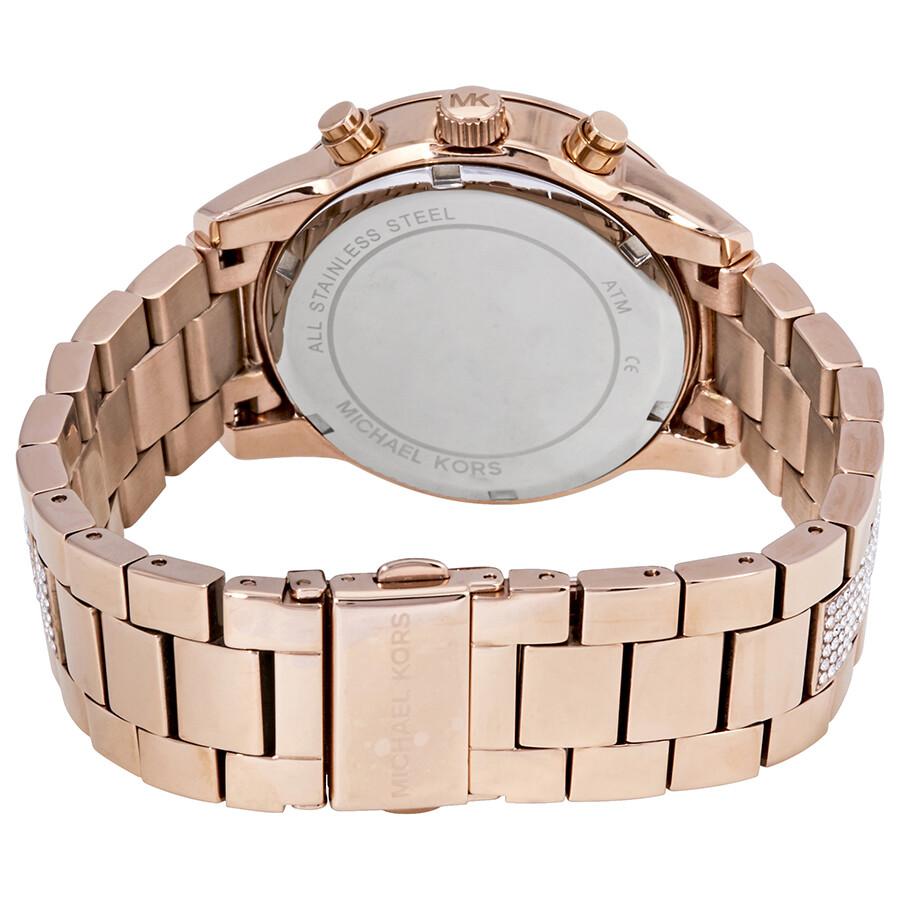 871b1c113c90 Michael Kors Ritz Pave Chronograph Crystal Ladies Watch MK6485 ...
