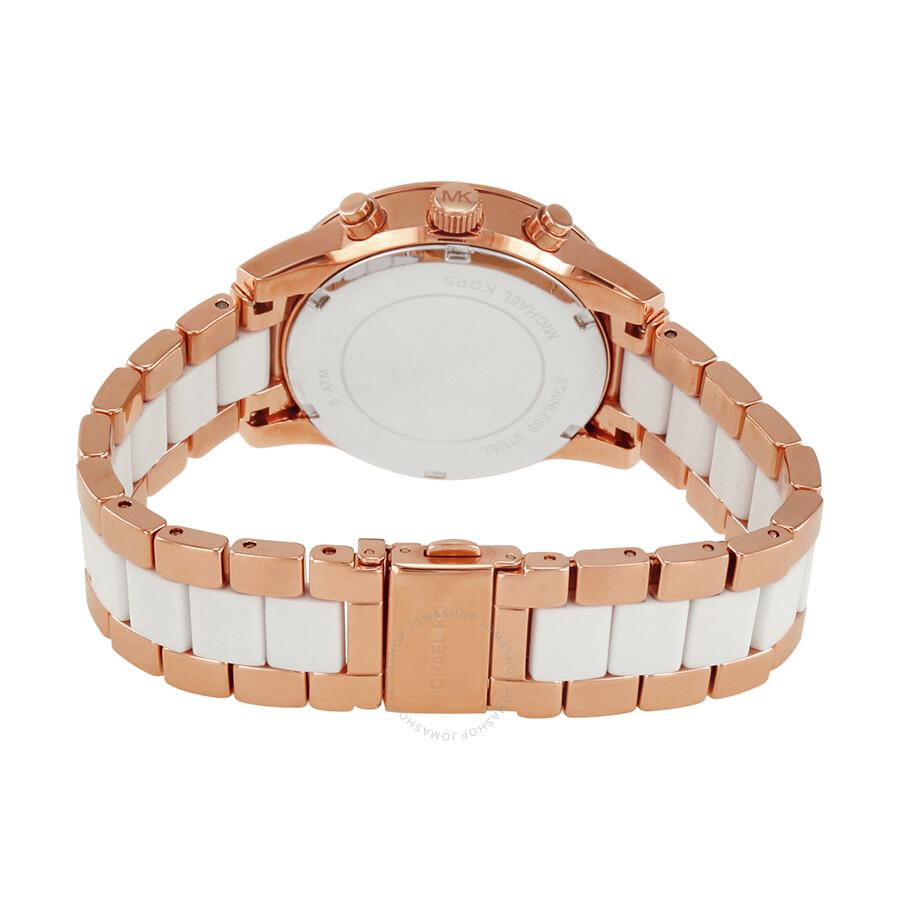 michael kors ritz quartz chronograph white dial ladies. Black Bedroom Furniture Sets. Home Design Ideas