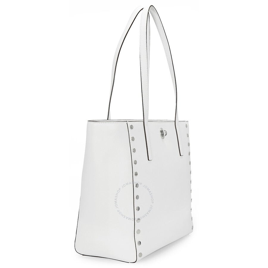4154e8ee143a Michael Kors Rivington Large Studded Tote - Optic White - Rivington ...