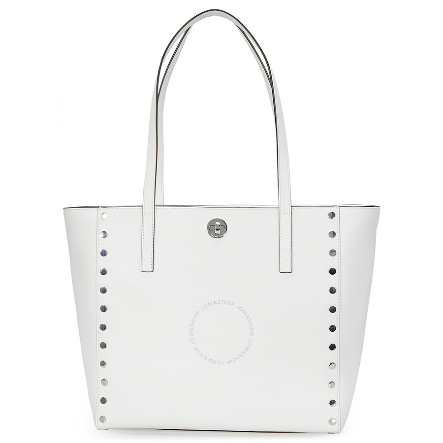 75531154a49a Michael Kors Rivington Large Studded Tote - Optic White Item No.  30S7SR7T3L-085