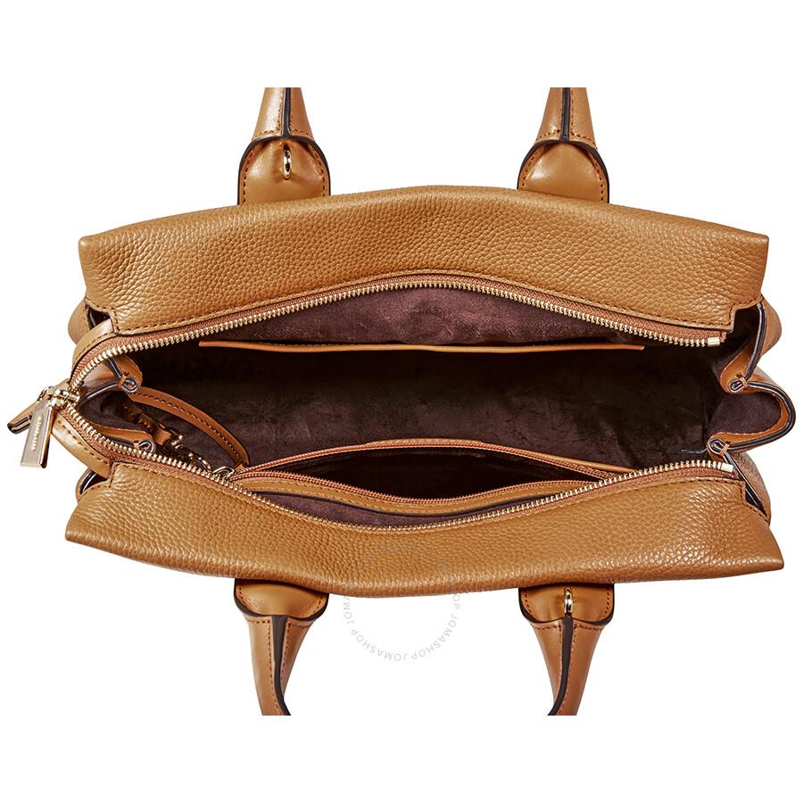 4f9bfd7377fe Michael Kors Rollins Large Pebbled Leather Satchel- Acorn - Michael ...