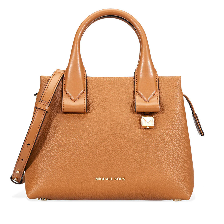 045f5937d4437 Michael Kors Rollins Small Pebbled Leather Satchel- Acorn Item No.  30F8GX3S1L-203