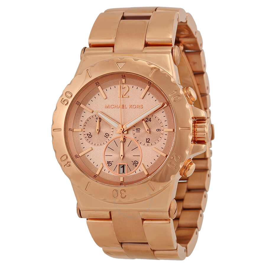 3c2a9e970482 Michael Kors Rose Gold Dial Chronograph Ladies Watch MK5314 - Dylan ...