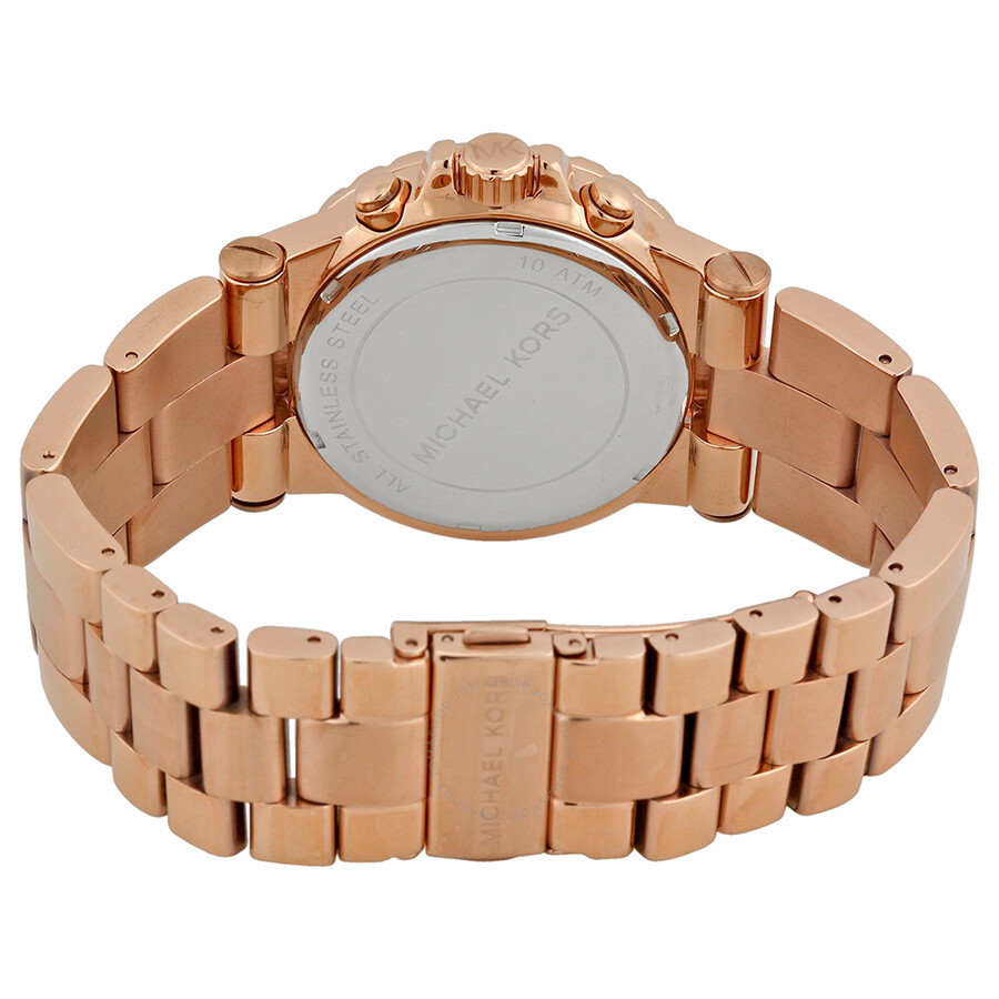 63d8ab2a129 Michael Kors Rose Gold Dial Chronograph Ladies Watch MK5314 - Dylan ...
