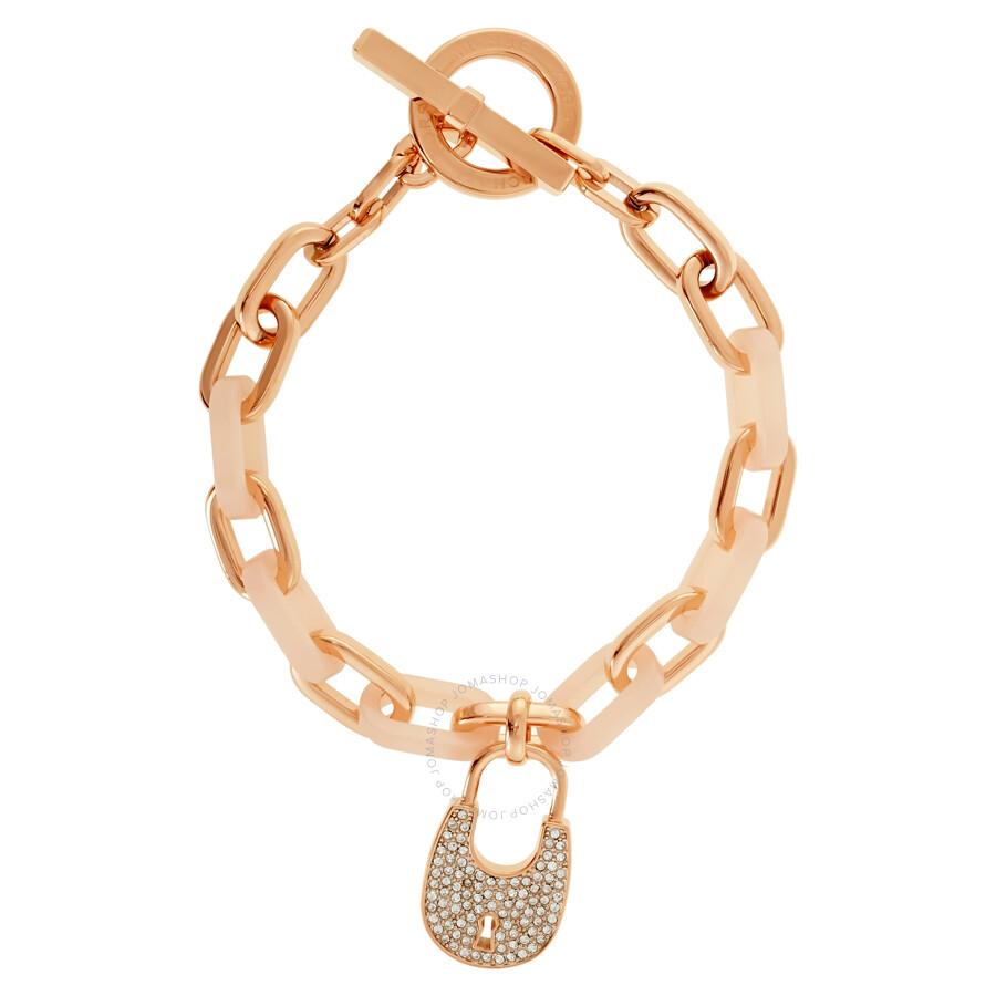 Michael Kors Rose GoldTone Acrylic Padlock Bracelet MKJ4888791