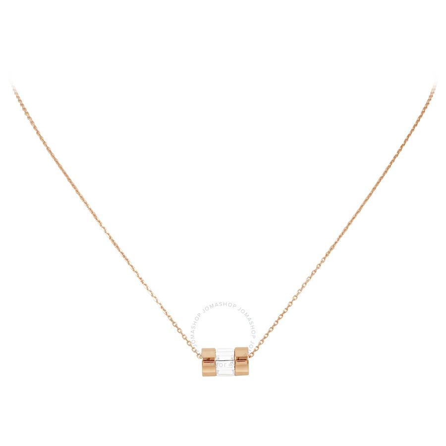 be46f278f3495 Michael Kors Rose Gold-tone Cylinder Pendant Necklace MKJ4951791 ...