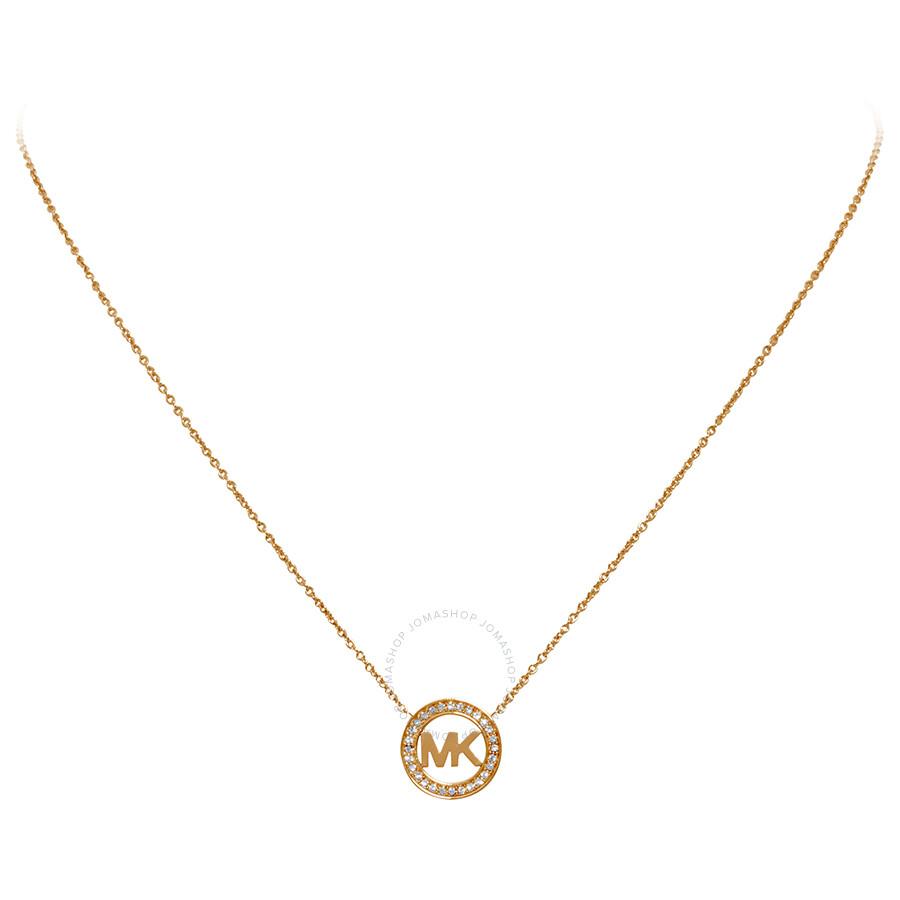 81d14aa055b2 Michael Kors Rose Gold-Tone Logo Pendant MKJ4734791 - Michael Kors ...