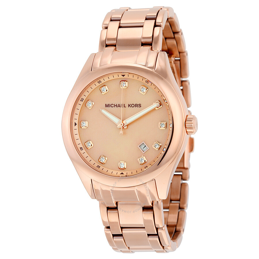 82cfcda9a Michael Kors Rose Gold Tone Mother of Pearl Dial Ladies Watch MK5311 ...