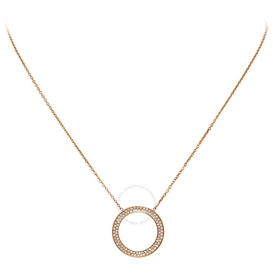1009b0889de24 Michael Kors Rose Gold-Tone Open Circle Pendant MKJ3296791 - Michael ...
