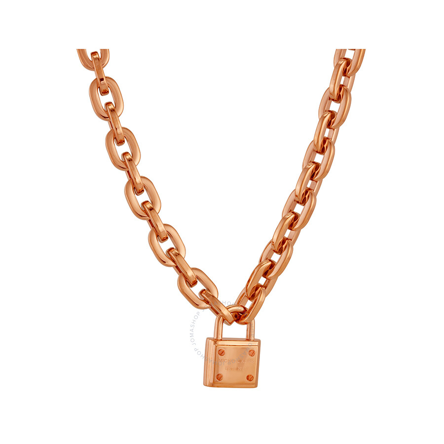 Michael kors rose gold tone stainless steel padlock for Do pawn shops buy stainless steel jewelry