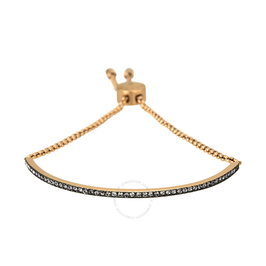 michael kors rose gold tone crystal slider bar bracelet