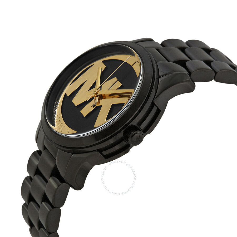 michael kors runway black and gold black ion plated