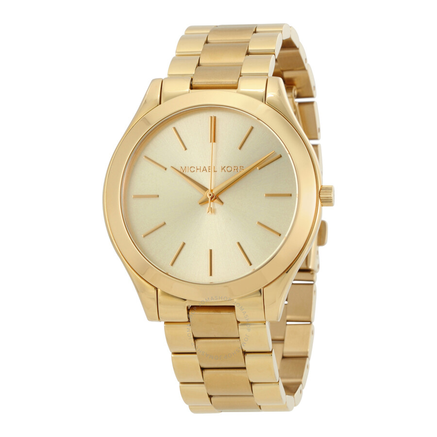 Michael kors runway champagne dial ladies watch mk3179 runway michael kors watches jomashop for Watches michael kors