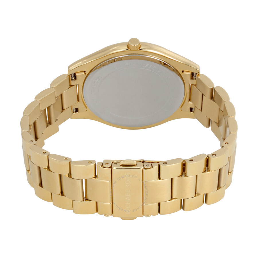 fbb4a0462185 Michael Kors Runway Champagne Dial Ladies Watch MK3179 - Runway ...