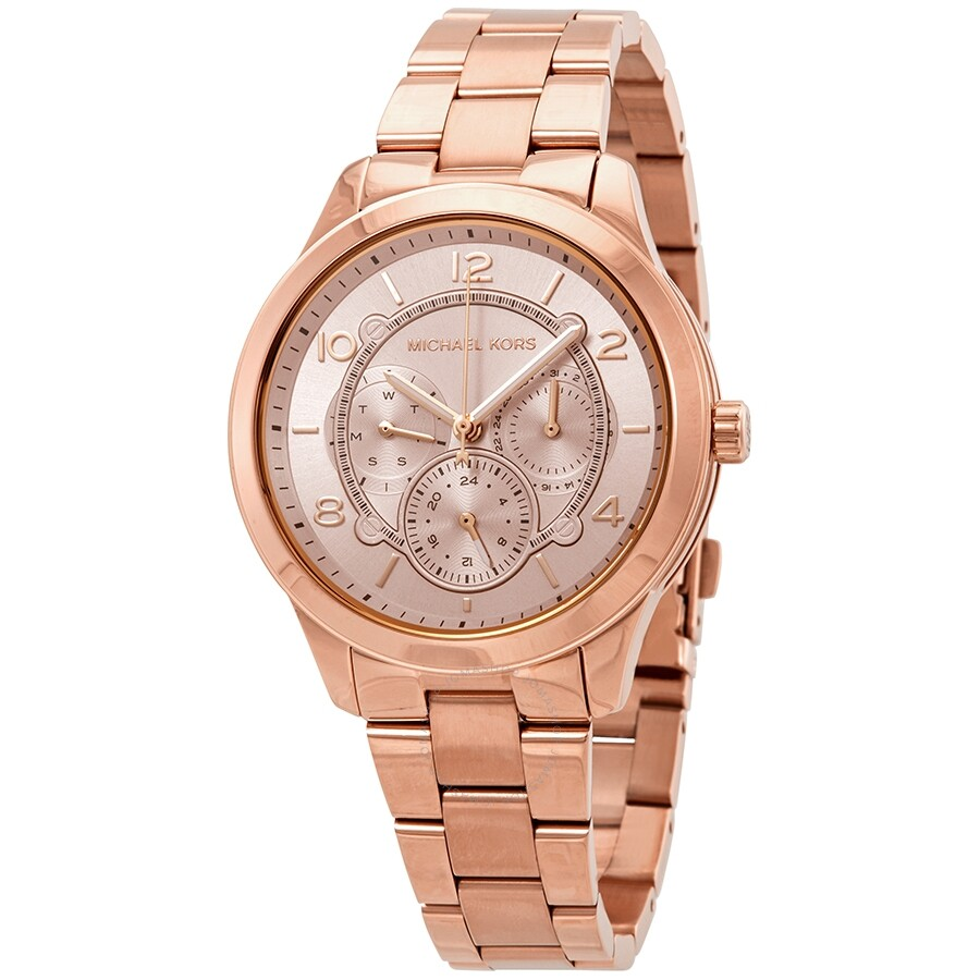 2d3e11a0d Michael Kors Runway Rose Dial Rose Gold-tone Ladies Watch MK6589 ...