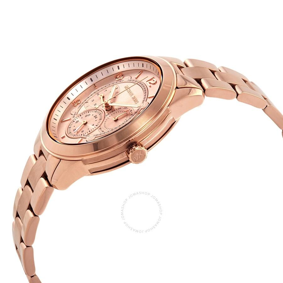 d53492dd2 ... Michael Kors Runway Rose Dial Rose Gold-tone Ladies Watch MK6589 ...