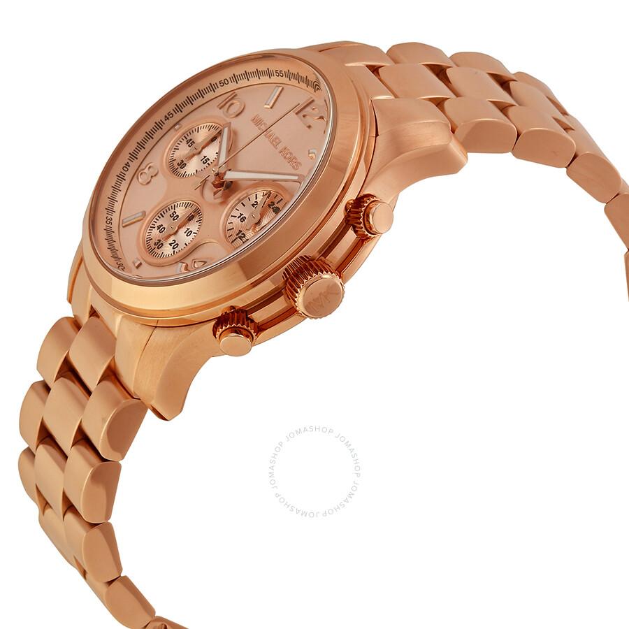 136e755e72ab ... Michael Kors Runway Chronograph Gold Dial Ladies Watch MK5128 ...